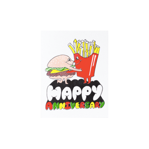 Happy Anniversary Burger & Chips (card) Yellow Owl Workshop