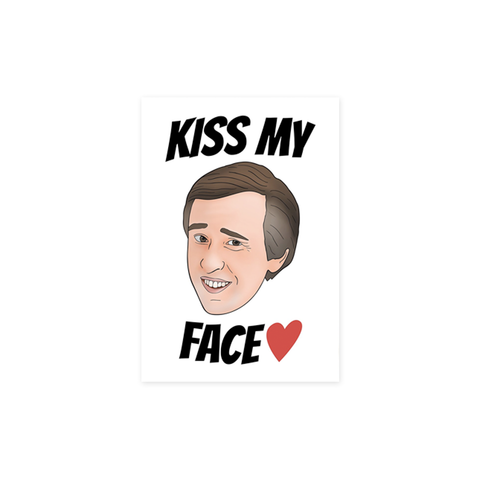 Alan Partridge Kiss My Face card