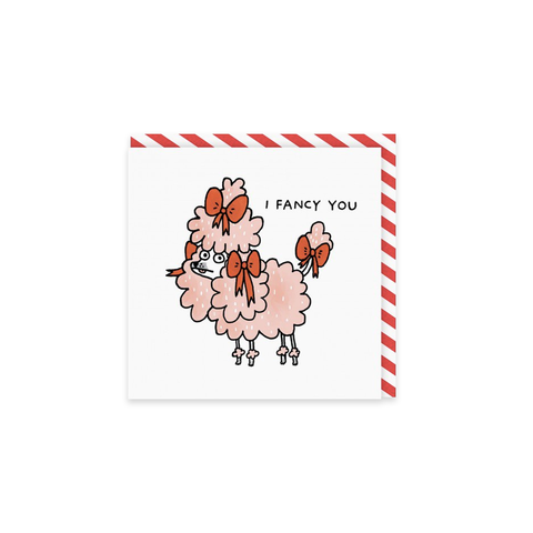 I Fancy You Poodle card