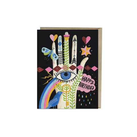 Rainbow Hand Birthday Card