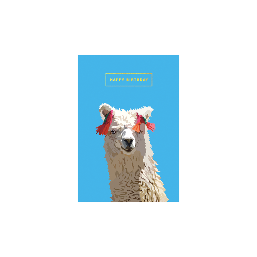 Llama Happy Birthday card