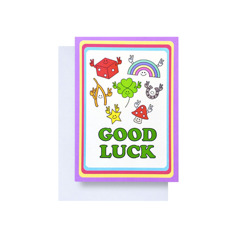 Good Luck Lucky Charms card