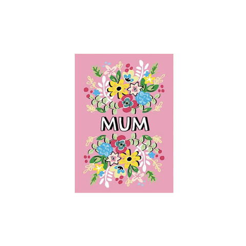 Mum Pink Flowers (card)