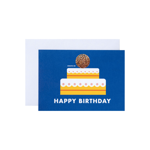 Happy Birthday Cake scratch off card