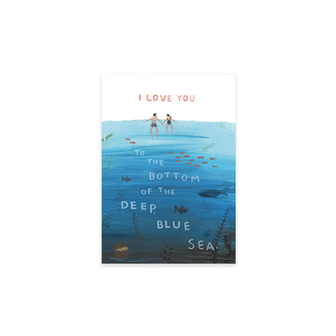 Deep Blue Sea card