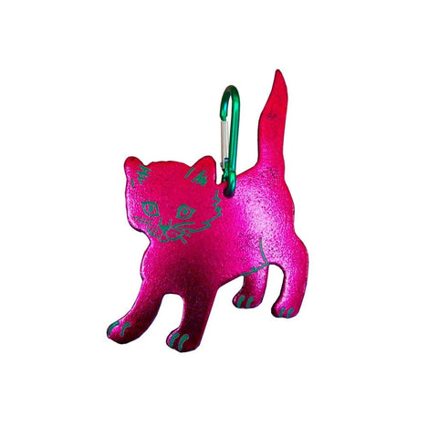 Metallic Cat Bag Clip