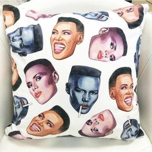 Grace Faces Cushion Homeware - Cushions Helen Green for We Built This City 2
