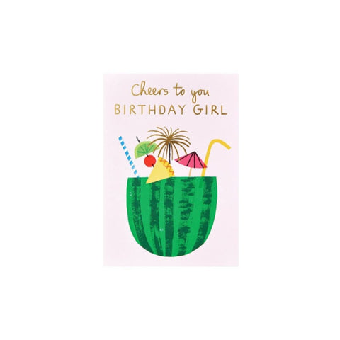 Cheers Birthday Girl (card) - Wrap Magazine