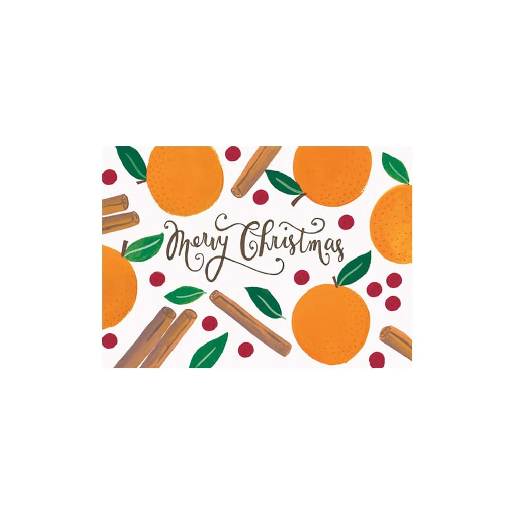 Merry Christmas Cinnamon and Orange card