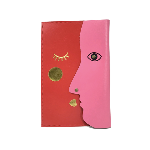 Kissing Clutch Large (Red & Hot Pink)