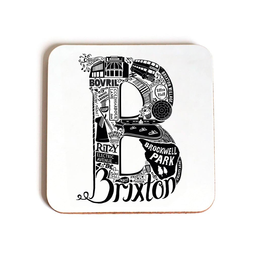 London Letter Area Coasters