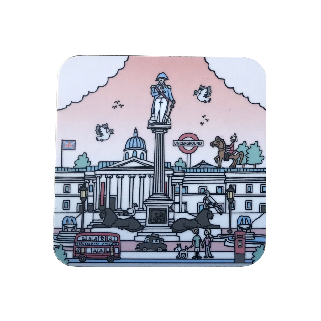 Trafalgar Square In Summer Coaster Homeware - Coasters Lauren Nickless for We Built This City 1