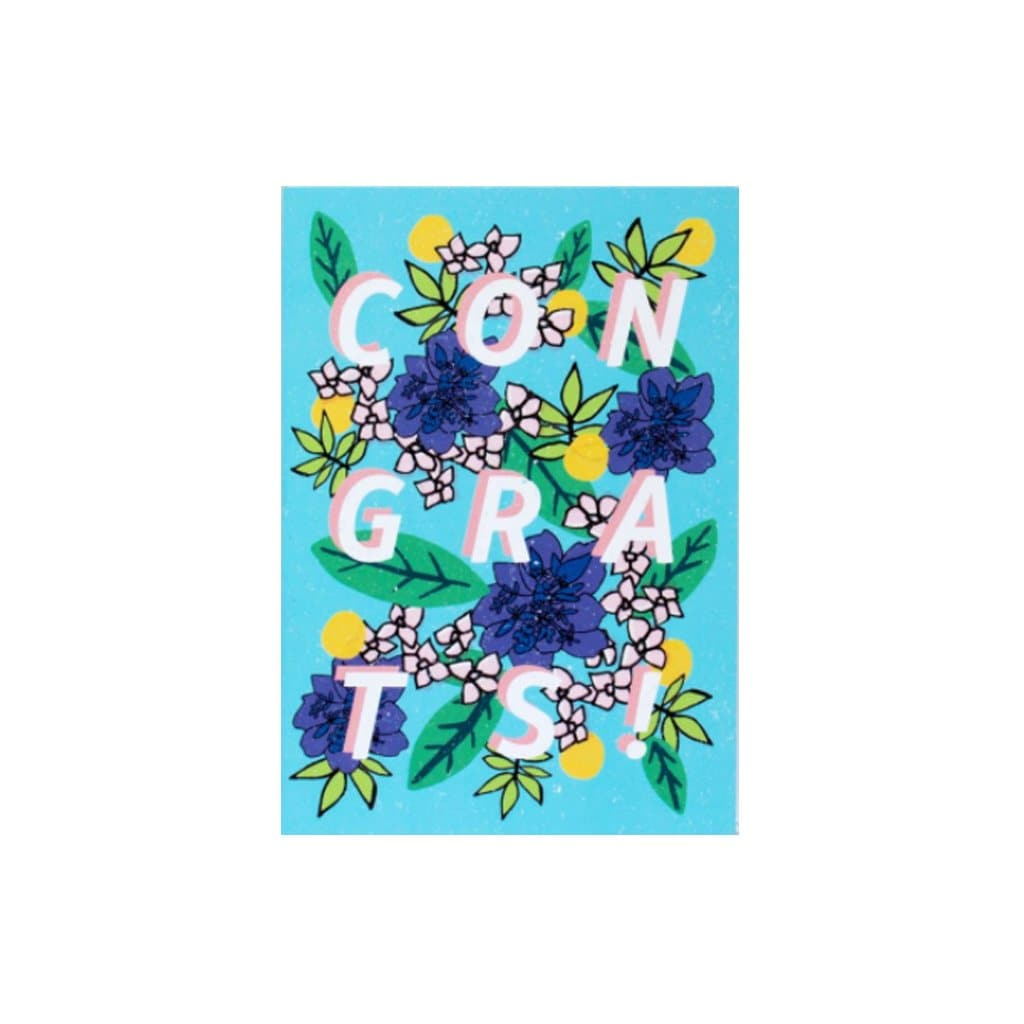Congrats - Blue Flowers (card) - Natalie Lea Owen