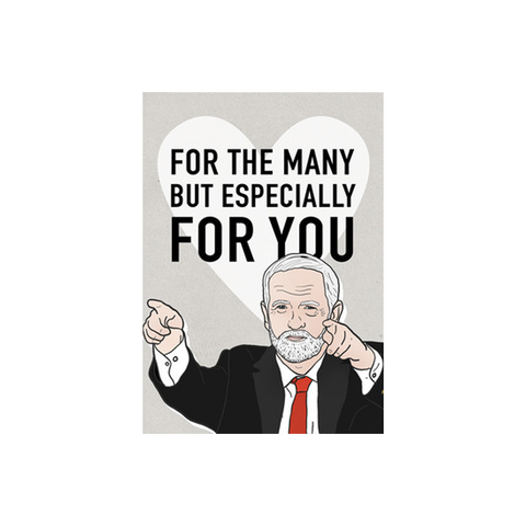 For The Many Corbyn card