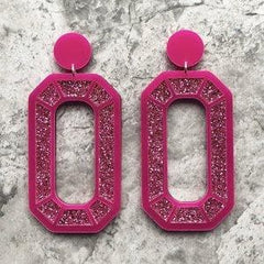 Mega Gem Earrings - Pink