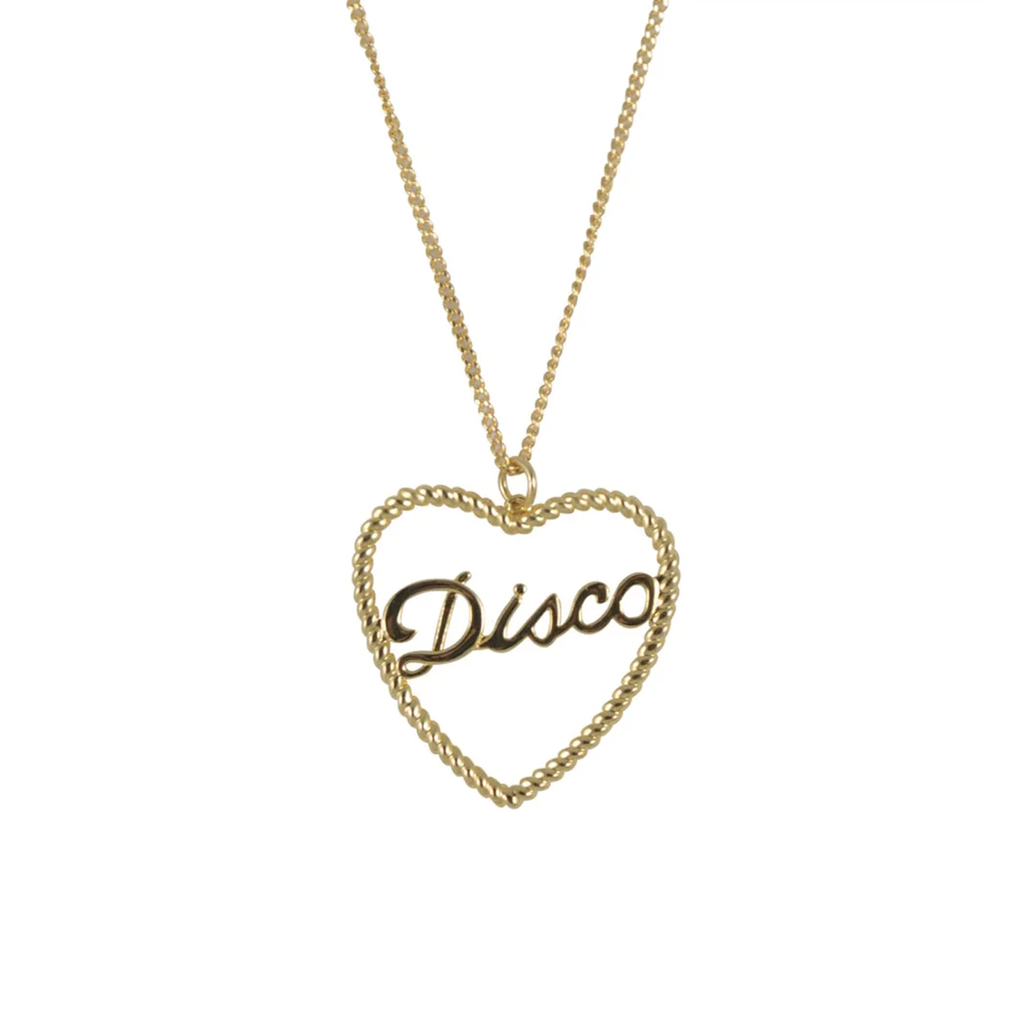 Gold Disco Rope Necklace