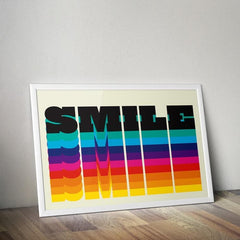 Rainbow Smile Art Typography North Six Graphic Design for We Built This City 2