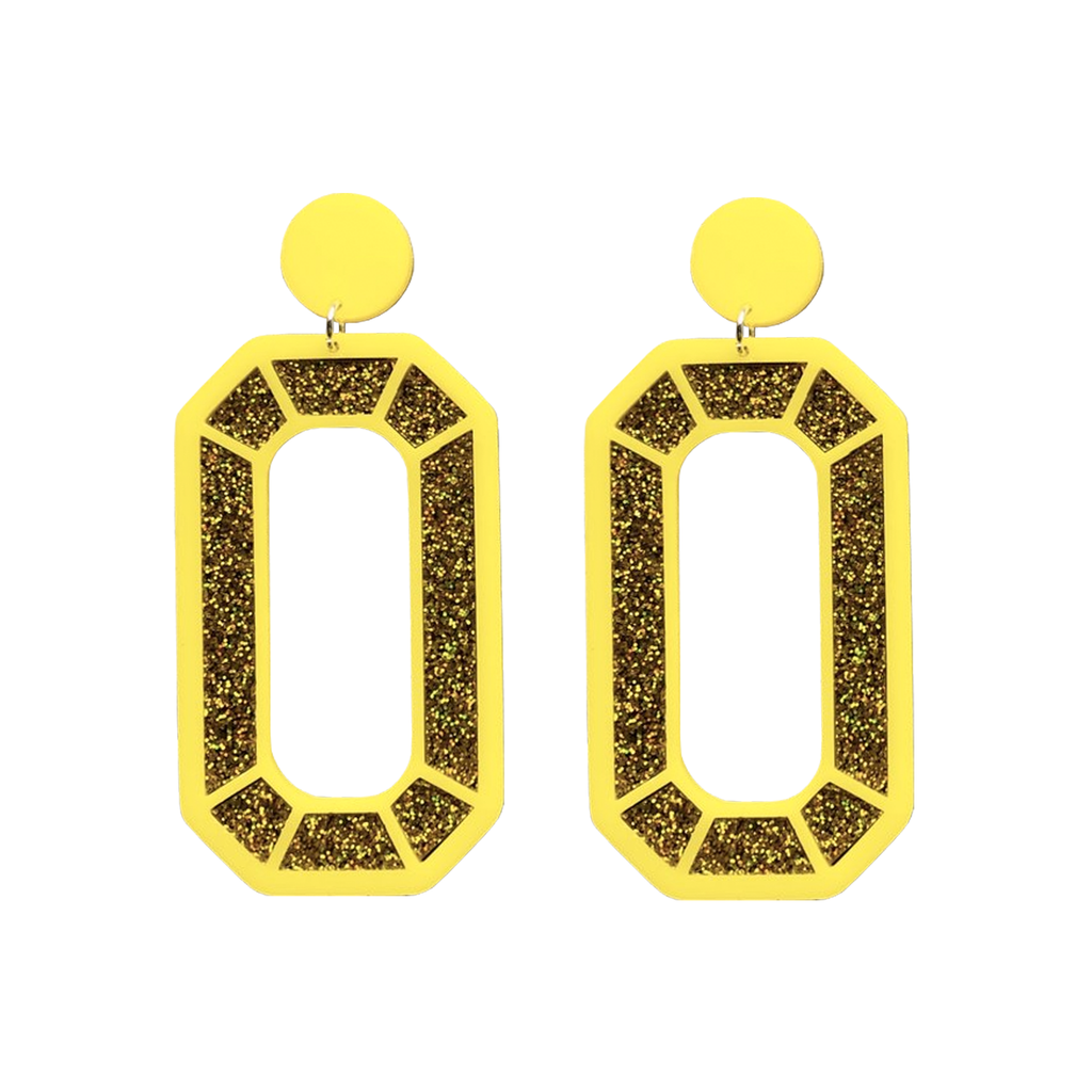 Mega Gem Earrings - Gold