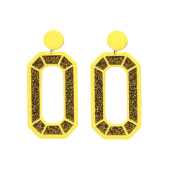 Mega Gem Earrings - Gold Jewellery - Earrings No Basic Bombshell for We Built This City 1