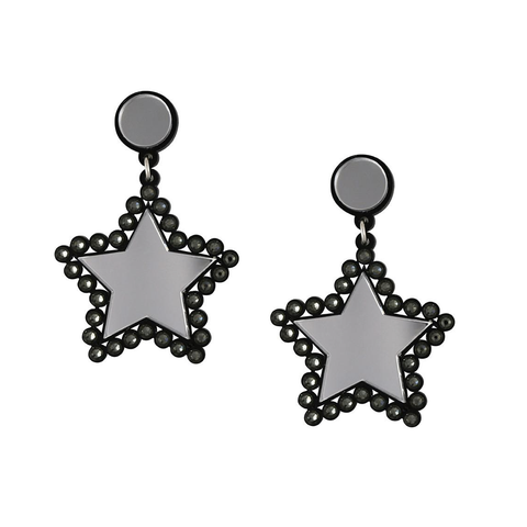 Lucky Star Silver Earrings