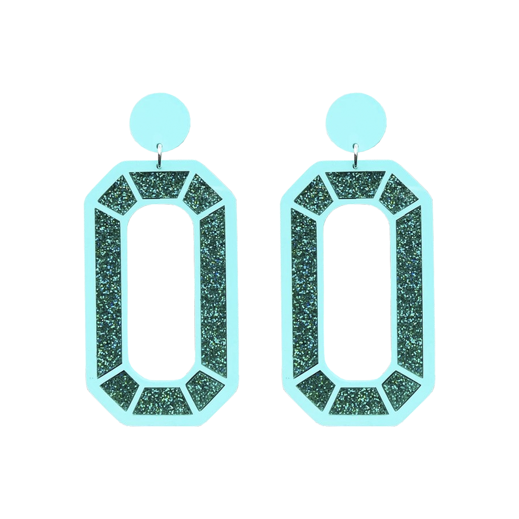 Mega Gem Earrings - Mint Jewellery - Earrings No Basic Bombshell for We Built This City 1