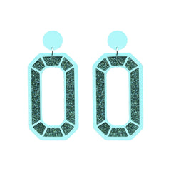 Mega Gem Earrings - Mint