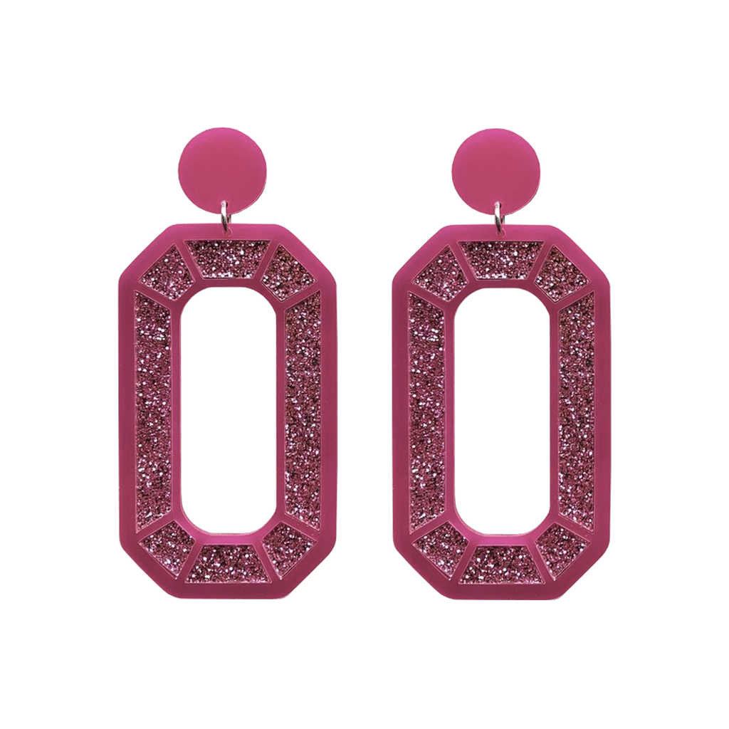 Mega Gem Earrings - Pink Jewellery - Earrings No Basic Bombshell for We Built This City 1