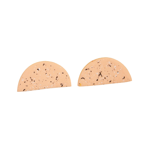 Speckle Studs - Peach