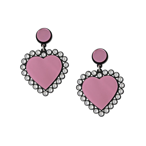 'Baby Be Mine' Heart Earrings