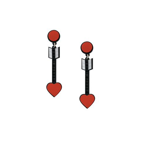 From the Heart Red Arrow Earrings