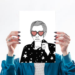 Elton John Drinking Tea Art Music Carissa Tanton for We Built This City 1