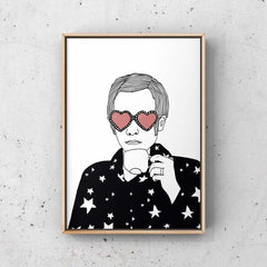 Elton John Drinking Tea Art Music Carissa Tanton for We Built This City 2