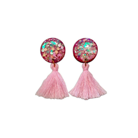 Fairy Floss Tassel Earrings