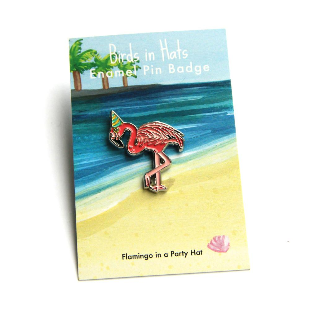 Flamingo In A Party Hat Enamel Pin