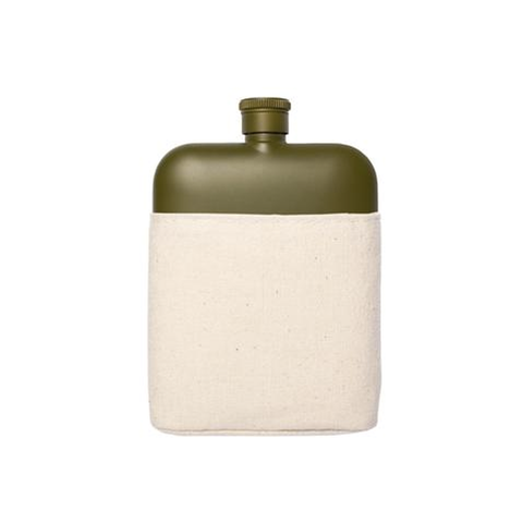 Canvas Hip Flask (Army)