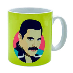Freddie Mercury Mug Ceramics - Drinking Vessels Sabi Koz for We Built This City 1