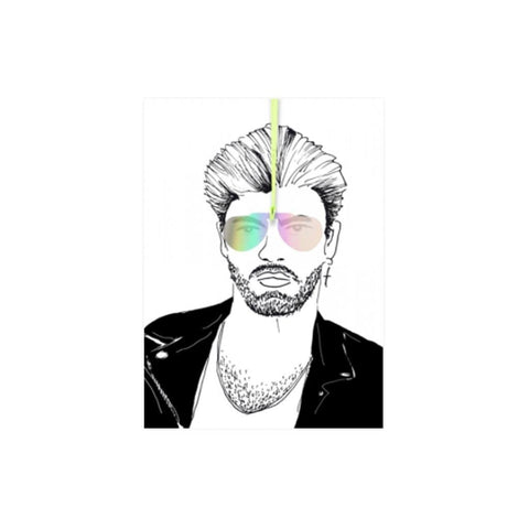 George Michael with Shades (card) - The Buttique