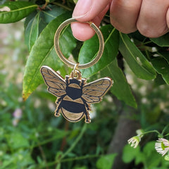 Gold Bee Enamel Keyring Travel Accessories - Keyrings Moonlit Press for We Built This City 2