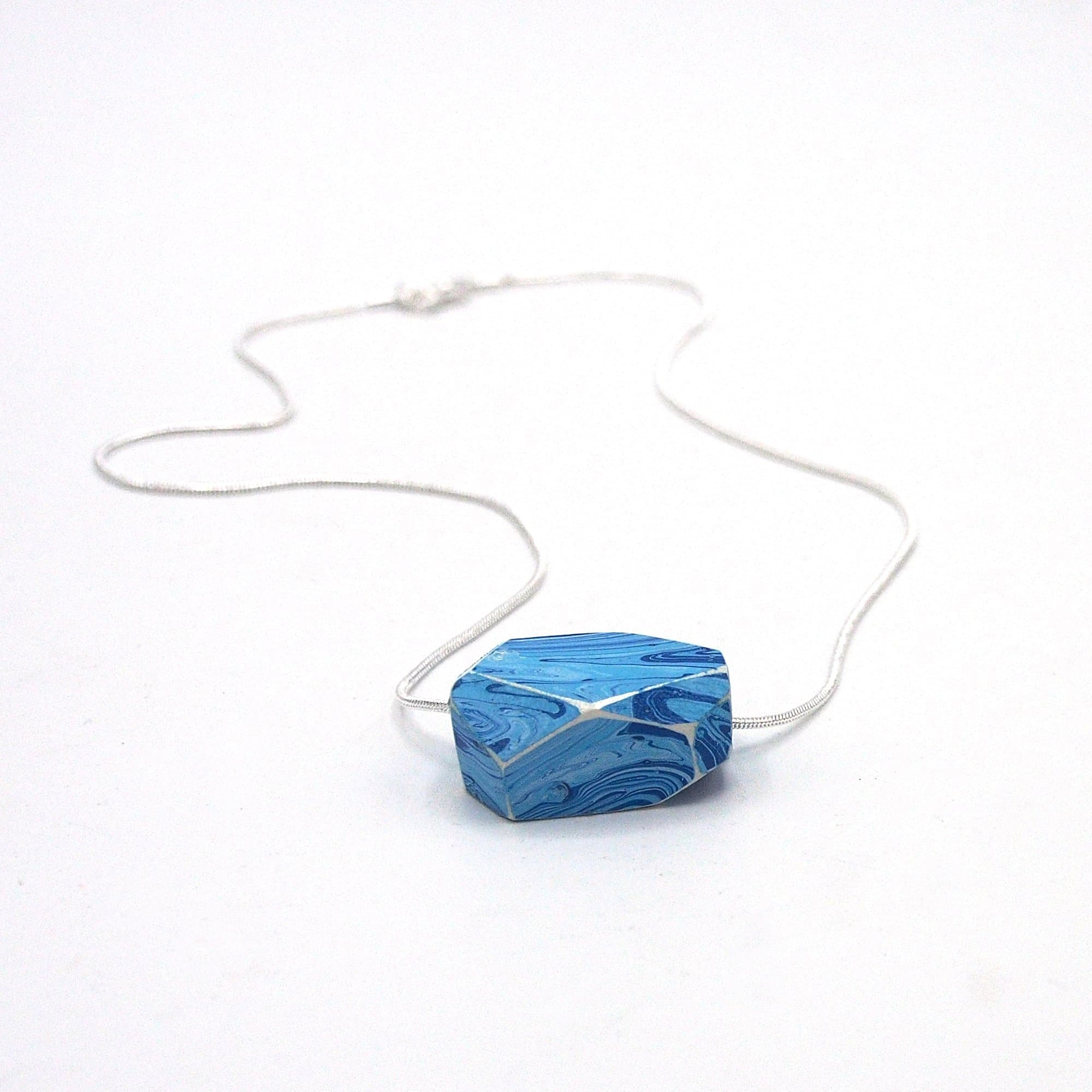 sterling silver royale bleu more with blue pendant white views crystal chain