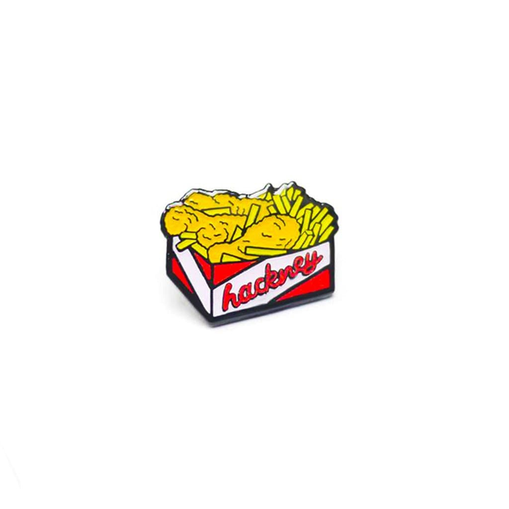 Hackney Chicken and Chips Enamel Pin