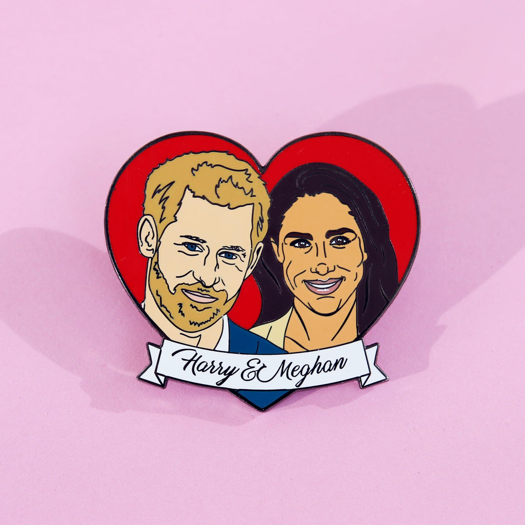 Harry & Meghan Enamel Pin Pins & Patches Thread Famous for We Built This City 3