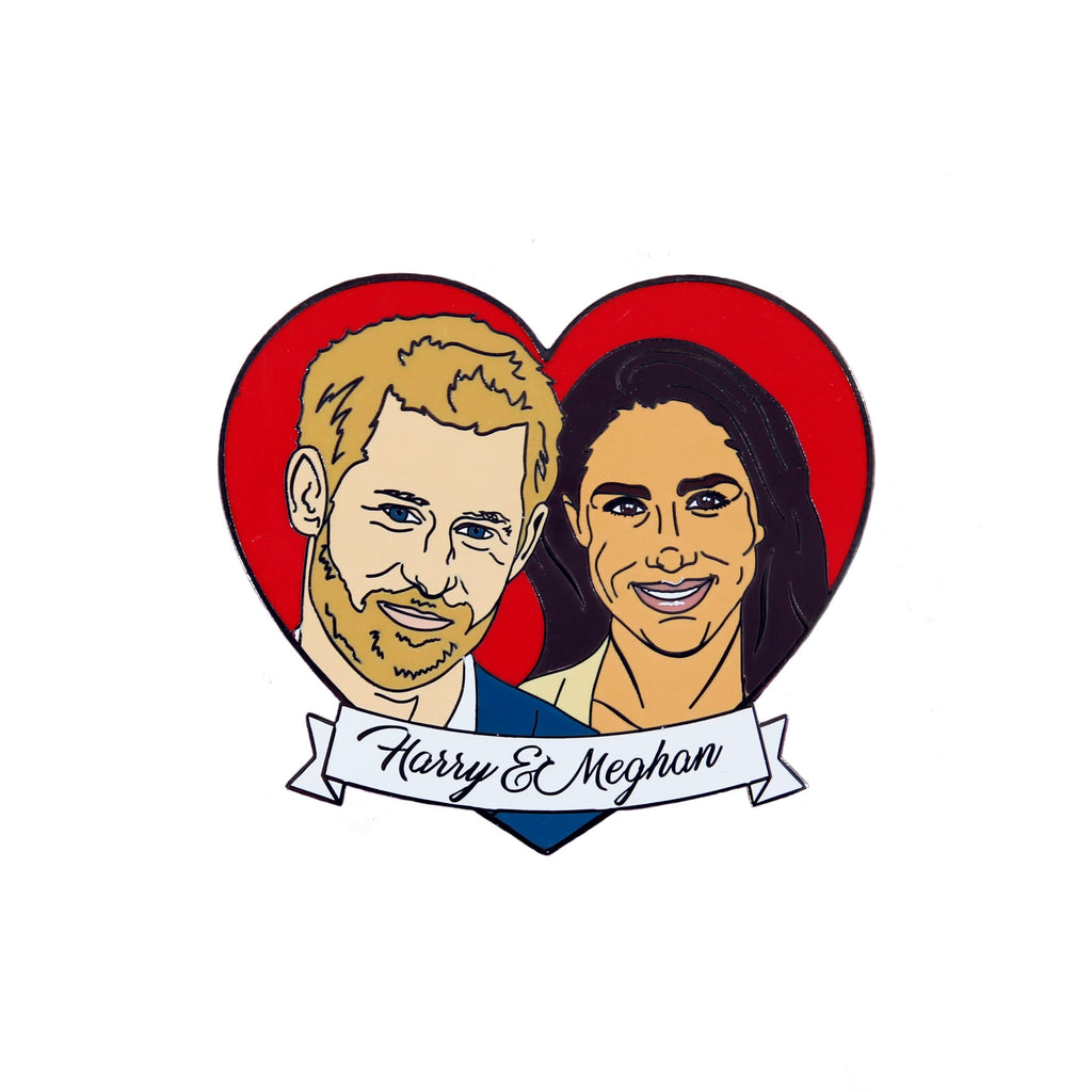 Harry & Meghan Enamel Pin Pins & Patches Thread Famous for We Built This City 1