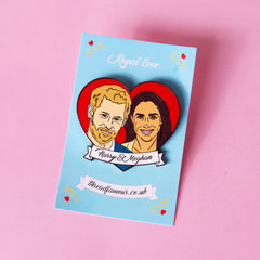 Harry & Meghan Enamel Pin Pins & Patches Thread Famous for We Built This City 2