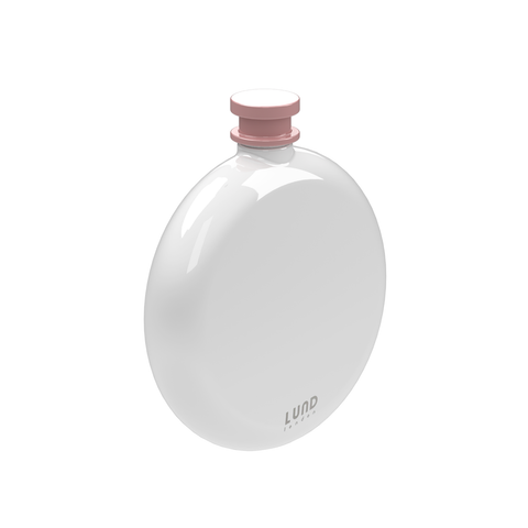 Skittle Round Hip Flask- White & Pink