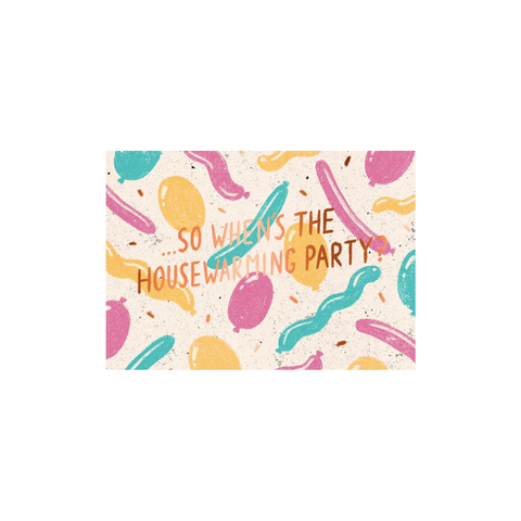 Housewarming Party card