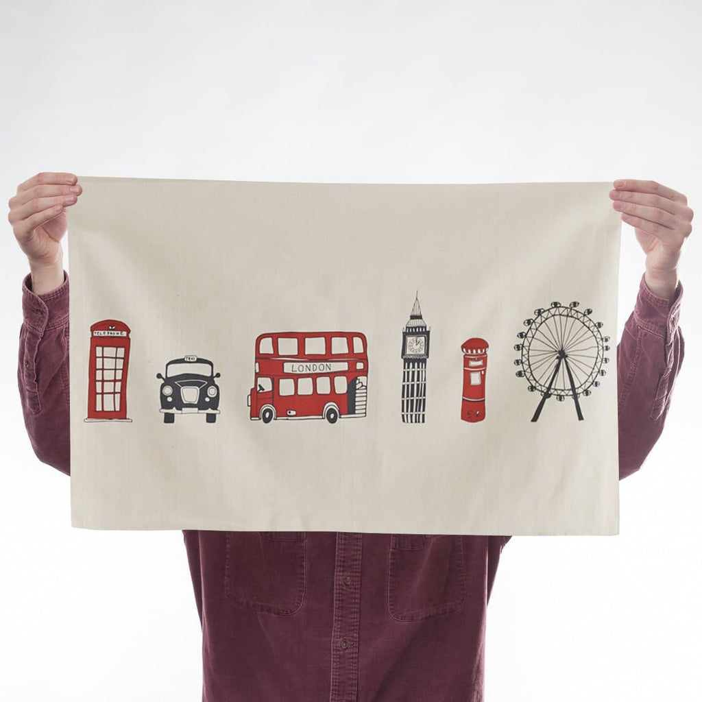 London Icons Tea Towel
