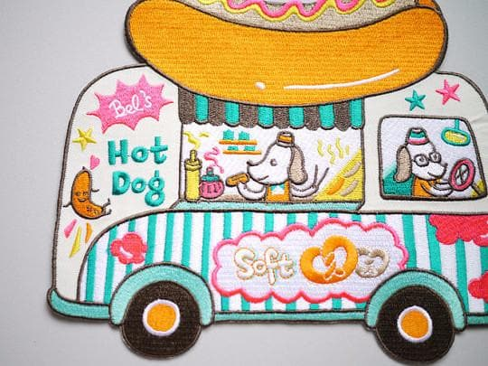 Hot Dog Van XL Iron on Patch