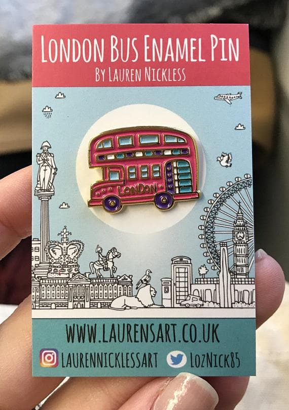 Bus Enamel Pin