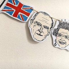 Royal Family Paper Bunting