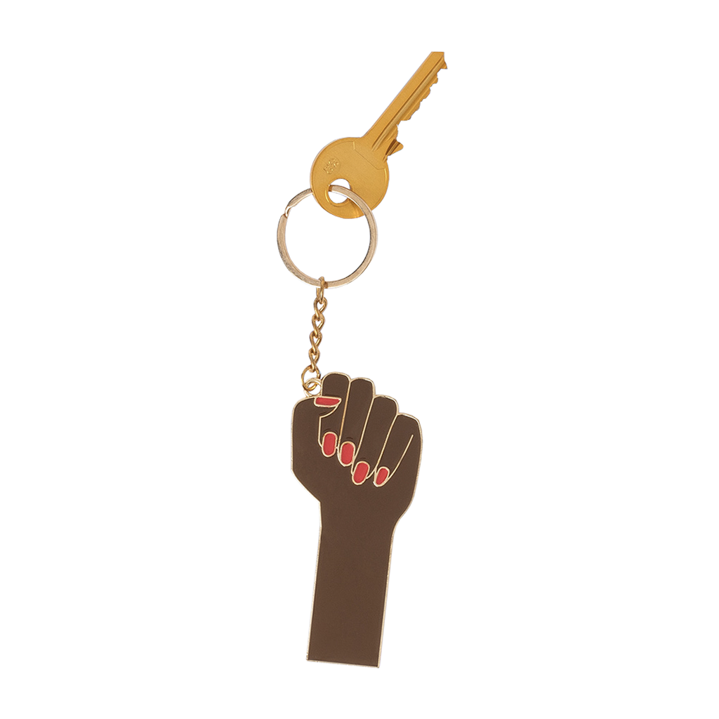 Oversized Girl Power Keyring (Black)